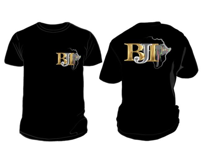 BJI Black Round Neck T Shirt